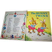 """Hard Cover Children's Book """" The Bunny Twins """" by Helen Wing Rand McNally"""