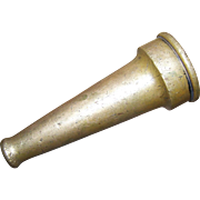 A Collectible Old Solid Metalware  Brass Fire Hose Nozzle 5 Inches