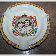 Creampetal Royalty Ashtray Princess Elizabeth & Margaret Rose