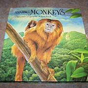 SALE PENDING Amazing Monkey Pop-up Action Book C. 1985 National Geographic