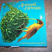 "Pop-up  Book Titled "" Animal Homes "" National Geographic C. 1989"