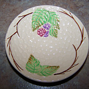 Vintage Wade England Bramble Majolica Style Butter Pat Dish