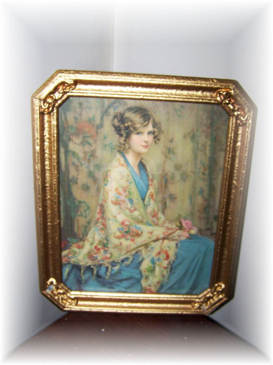 Framed Print Alice Blue Gown From Victoriasjems On Ruby Lane