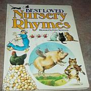"""Vintage H.C. Book """" Best Loved Nursery Rhymes """" C. 1984"""