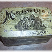 Vintage Advertising Tin MARYLAND Club Mixture Chest Box