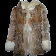 Vintage Coyote Fur Jacket With Amazing Hood Ladies Size Medium