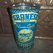 Vintage Advertising Tin Can Pail Style GRANESE Brand Ricotta