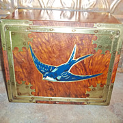 SALE Early Large Blue Bird Toffee  Advertising Tin England