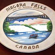 Niagara Falls Souvenir Plate Rainbow Bridge Canada