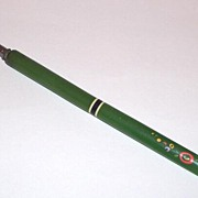 Unique Vintage Green Casein Quill Spencer H.P. Accents