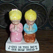 Our Daily Bread Figural Girl & Boy Salt & Pepper Shakers