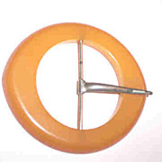 Large Butterscotch Bakelite Belt Buckle