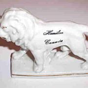 Hamilton Canada Souvenir  Porcelain Figurine White Lion Germany