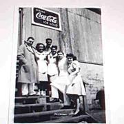 Original Vintage B&W Photograph Drink Coca Cola Ice Cold