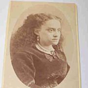Unique Carte De Visite Photograph Young Lady