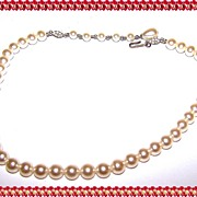 Simulated Faux Pearl Bead Necklace / Choker