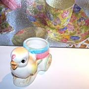 Ceramic Chick Egg Cup Cart Japan