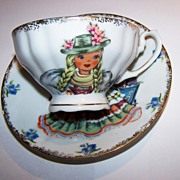 SOLD Doll Of Germany Hand Decorated Tea Cup & Saucer