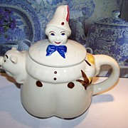 Tom The Piper's Son Tea Pot Shawnee Pottery