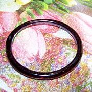 Hand Made Vintage Amethyst Glass Bangle Bracelet