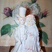 "A. Belcari Art Sculpture Statue  Bride Groom Figurine by Arnart C. 1985 ""Dear"""