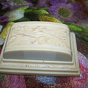 Decorative Deco Era Celluloid Double Ring Box