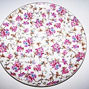 """ESD Japan Transferware with  Hand Painted Accents Chintz Plate 10.5"""""""