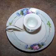Chamberstick Candle Holder Noritake Made In Japan Floral Motif