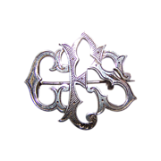 SALE Unique Sentimental Token of Love Monogram Pin Initials GES