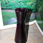"""Pretty Purple Glass Vase 5 3/4"""" Tall"""