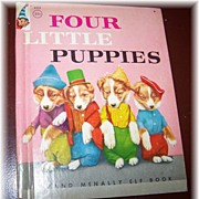 SALE Four Little Puppies Rand McNally Children's Book Harry Whittier Frees