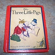 The Three Little Pigs  Book Pictures By Frances Beem Rand McNally C. 1934