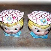 Vintage Ceramic Dainty Miss Salt & Pepper Set Japan