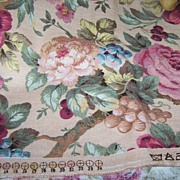 Vintage Material All Over Rose Floral Motif Colorful