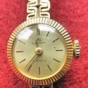 Fine Bucherer 18K YG Vintage Ladies Watch