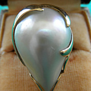 SALE PENDING 14K YG Cultured Mabe Pearl Ring