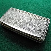 Antique 800 Silver Snuff Box Continental Origin