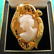 22K Vintage Cameo Ring