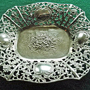 Beautiful 800 Silver Condiment Dish