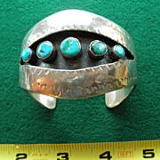 Handmade Sterling & Turquoise Southwestern Bracelet