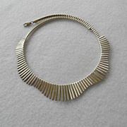 Vintage Sterling Fringe Collar Necklace.