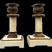 Wonderful Pair Empire Candlesticks