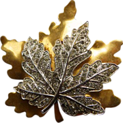 Vintage McClelland Barclay Maple Leaf Brooch