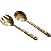 Rare Georg Jensen Sterling Salad Set Ornamental #54