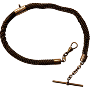 Victorian Single Strand gold filled Hair Watch Chain