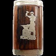 French 19thC Wood & Silver Snuff Box