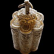 Unusual Jewish Spice Box Silver Plate