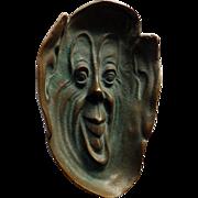 SOLD Art Nouveau Bronze Dish With Face