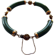 Nephrite Jade & 14K Link Bracelet