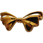 Vintage 14K Yellow gold Bow Brooch/Pin